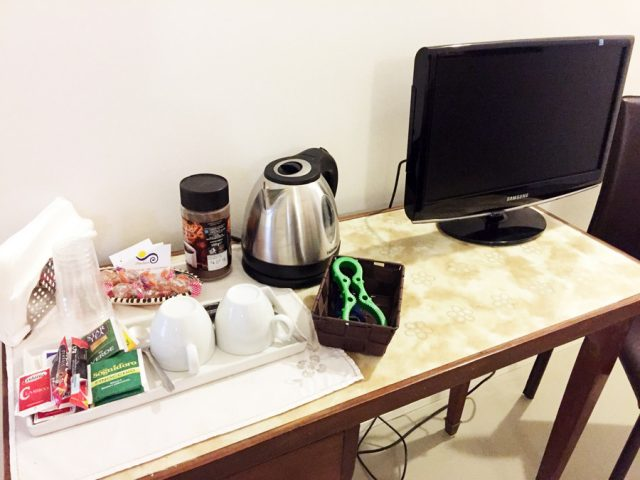 TV and kettle